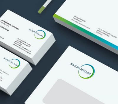 Naturspeicher Corporate Design